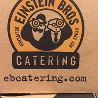 Photo taken at Einstein Bros Bagels by Dan K. on 11/21/2014