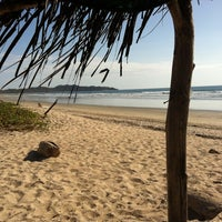 Photo taken at Playa Guiones by Oscar J. on 1/4/2013