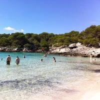 Photo taken at Cala Turqueta by Ferran F. on 10/3/2012
