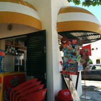 Photo taken at Quiosque Praia da Dona Ana by Carlos C. on 5/11/2014