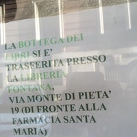 Photo taken at La Bottega dei Libri by Rabbit on 4/10/2014