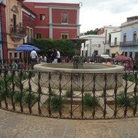 Photo taken at Plazuela de los Ángeles by Moises S. on 3/27/2013