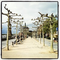 Photo taken at Rheinuferpromenade by Fabio B. on 5/10/2013