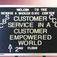 Photo taken at Dennis A Wicker Civic Center by Martin B. on 10/22/2012