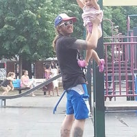 Photo taken at Vincent B. Abate Playground by Johanna B. on 8/7/2014