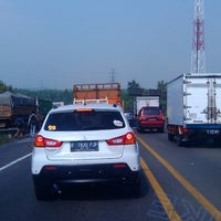 Photo taken at Gerbang Tol Karawang Timur by Om D. on 7/21/2014