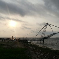 Photo taken at Fort Kochi Beach by Tina M. on 10/16/2013