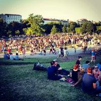 Photo taken at Görlitzer Park by Helena on 6/22/2013