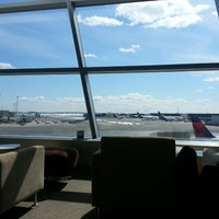 Photo taken at Delta Sky Club by Jason S. on 3/22/2013