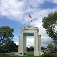 Photo taken at Canada Border Services Agency (Peace Arch) by Jina P. on 5/25/2013