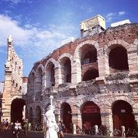 Photo taken at Arena di Verona by Daria P. on 7/24/2013