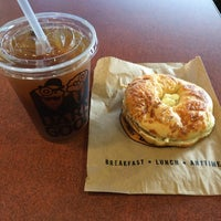 Photo taken at Einstein Bros Bagels by Christopher M. on 2/19/2014