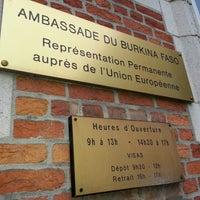 Photo taken at Ambassade Burkina Faso by Ibrahim on 2/4/2013