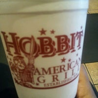 Photo taken at Hobbit American Grill by Krystle B. on 4/14/2013