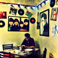 Photo taken at Old Town Pizza by Emily on 6/27/2013
