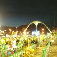 Photo taken at Sambódromo by Thais S. on 2/12/2013