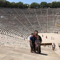 Photo taken at Epidaurus Ancient Theatre by Thanos A. on 7/16/2017