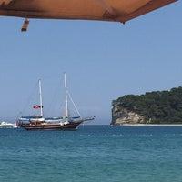 Photo taken at Meder Resort Hotel Beach by Sinan S. on 7/8/2015