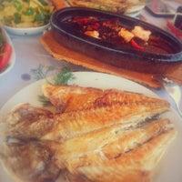 Photo taken at mavi kum restaurant by Okşan Y. on 7/5/2016