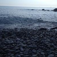 Photo taken at Spiaggia di Riomaggiore by andrea l. on 4/23/2014