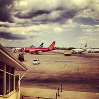 Photo taken at Pashkovsky International Airport (KRR) by Andrey T. on 7/25/2013