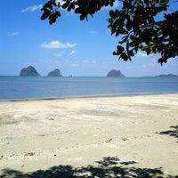 Photo taken at Rajamangala Beach by Tong W. on 3/13/2014