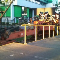 Photo taken at Andén Tren Urbano (Universidad Latina) by Carlos U. on 12/4/2012