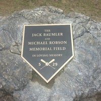 Photo taken at Jack Baumler and Michael Robson Memorial Field by Kristin D. on 4/15/2013