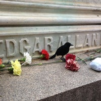 Photo taken at Grave of Edgar Allan Poe by Danielle B. on 10/8/2012