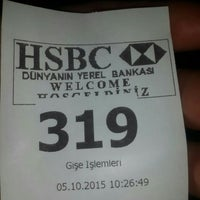 Photo taken at Hsbc Kızılay Şubesi by Hüseyin T. on 10/5/2015