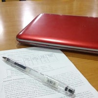 Photo taken at University of San Jose - Recoletos Library by Lara A. on 6/30/2014