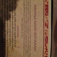 Photo taken at Nirvana Indian Restaurant by Brilliant Black D. on 2/22/2013