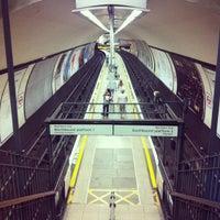 Photo taken at Clapham North London Underground Station by ssung C. on 7/14/2013