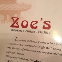Photo taken at Zoe's Gourmet Chinese Cuisine by Rich Sullivan on 8/12/2013