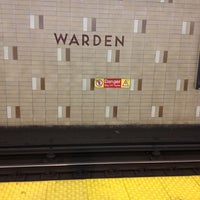 Photo taken at Warden Subway Station by Michael John O. on 11/18/2012
