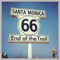 """Photo taken at Santa Monica Route 66 """"End of the Trail"""" by Brad L. on 5/19/2013"""