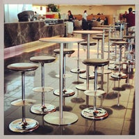 Photo taken at Qantas Club (T3) by Darren K. on 3/28/2013