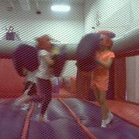 Photo taken at Bounce U by kelly p. on 7/12/2013