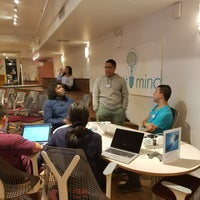 Photo taken at Impact Hub NYC by Ofure O. on 10/21/2017