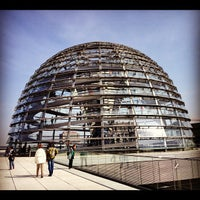 Photo taken at Reichstag Dome by Grazi G. on 4/18/2012