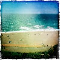 Photo taken at Praia das Bicas by Bruno M. on 7/1/2012