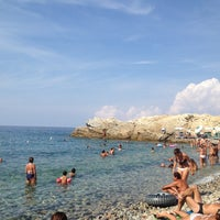 Photo taken at spiaggia Fenicia by Laura B. on 8/13/2012