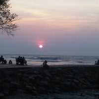 Photo taken at Fort Kochi Beach by Shine A. on 6/11/2012