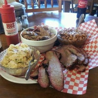 Photo taken at Hot City Barbeque & Bistro by Les V. on 4/2/2012