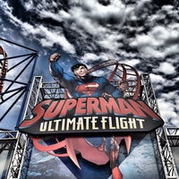 Photo taken at Superman Ultimate Flight by Dj Slick D on 8/4/2012
