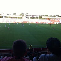 Photo taken at BSFZ Arena - Südstadt Stadion - Trenkwalder Arena by Graham B. on 8/5/2012