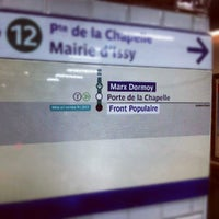 Photo taken at Métro Marx Dormoy [12] by Cᴏʏᴏᴛᴇ 🐺 C. on 8/29/2012