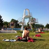 Photo taken at Schwimmbad Ingelheim by Julia K. on 5/24/2012