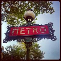 Photo taken at Métro Odéon [4,10] by Natacha Q. on 9/4/2012