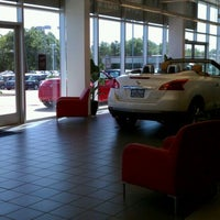 Photo taken at Crown Nissan of Greenville by Lauren M. on 4/9/2012